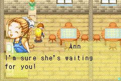 Harvest Moon - More Friends of Mineral Town - Okay now mary have a excuse you Ann - User Screenshot